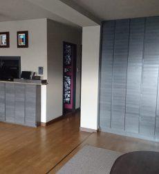 リビング収納の扉を交換して高級感溢れるデザインに一新した事例
